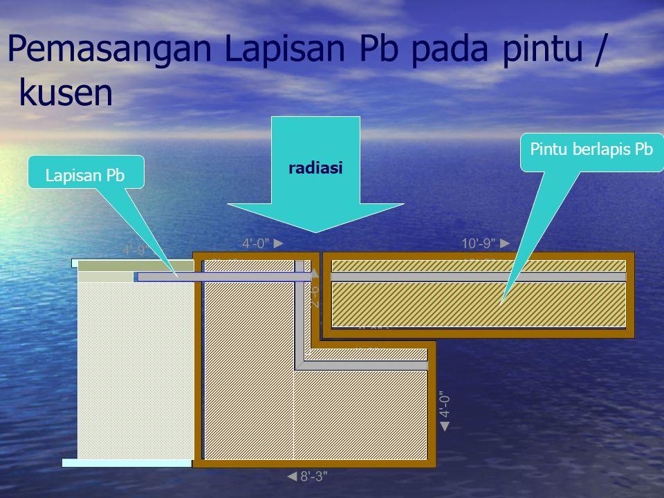 radiasi Pemasangan Lapisan Pb pada pintu / kusen Lapisan Pb Pintu berlapis Pb