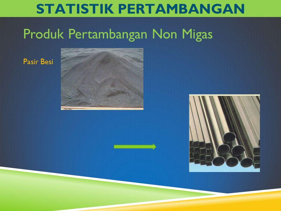 Produk Pertambangan Non Migas Pasir Besi STATISTIK PERTAMBANGAN