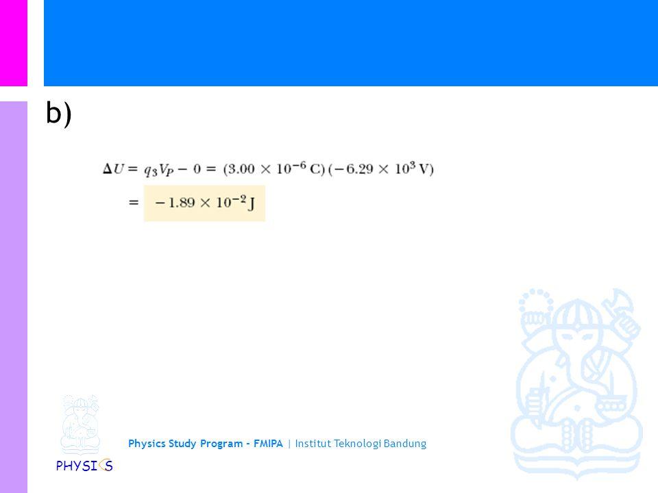 Physics Study Program - FMIPA | Institut Teknologi Bandung PHYSI S a)
