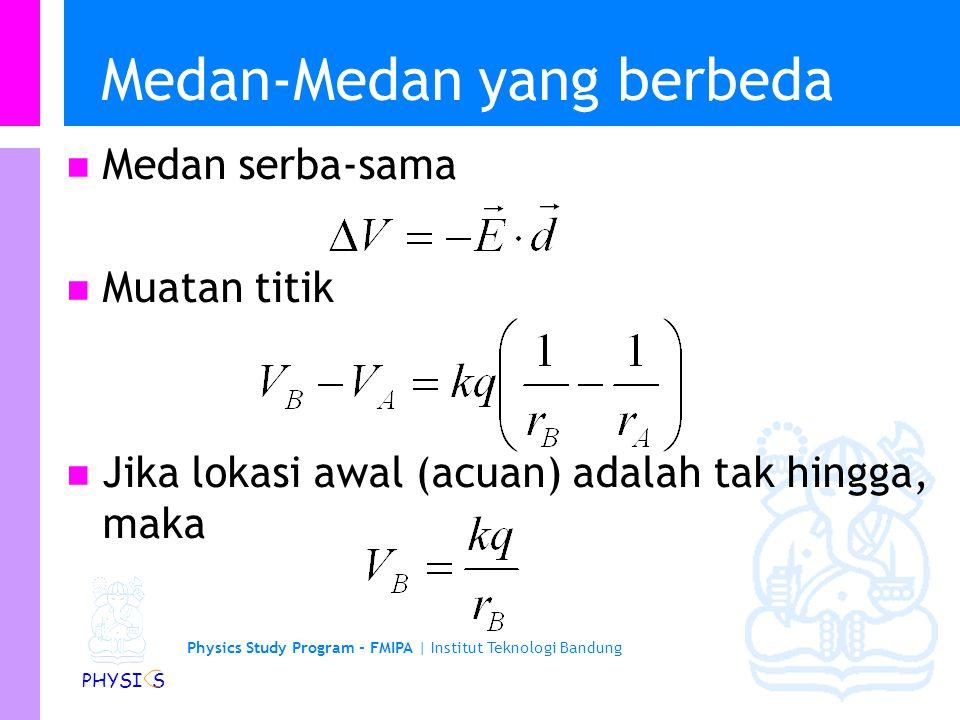 Physics Study Program - FMIPA | Institut Teknologi Bandung PHYSI S Contoh: Tegangan dari suatu Bola What is the electric potential (voltage) between t