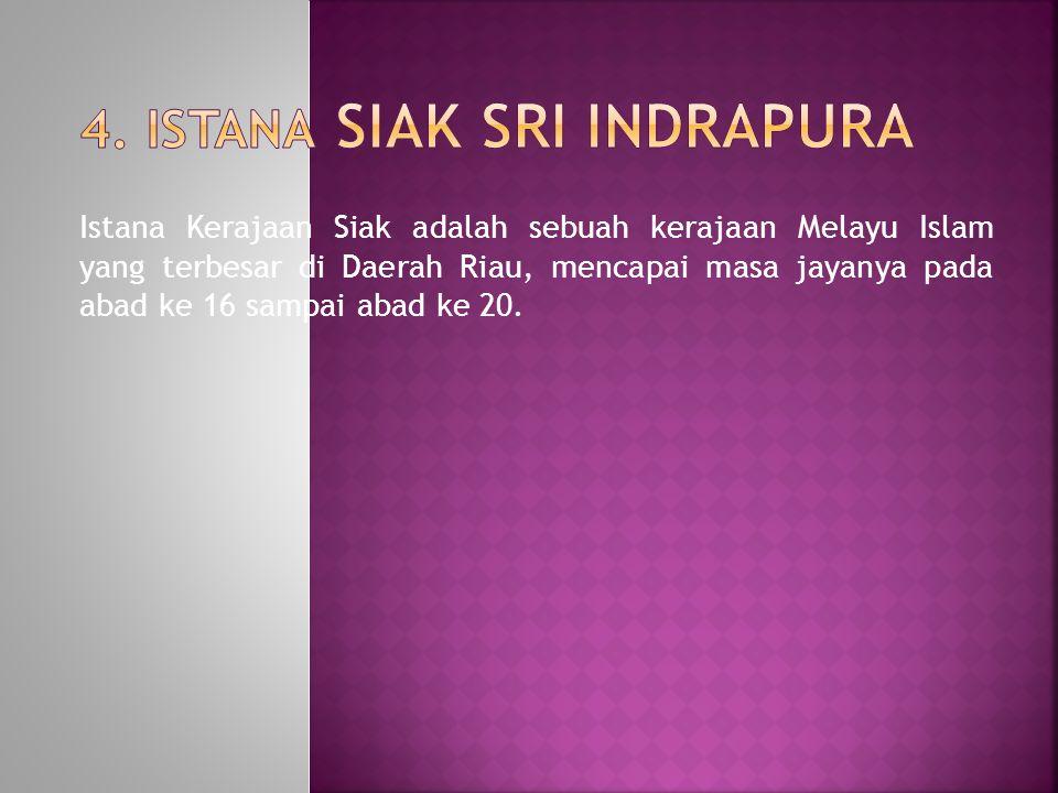 Istana Kerajaan Siak adalah sebuah kerajaan Melayu Islam yang terbesar di Daerah Riau, mencapai masa jayanya pada abad ke 16 sampai abad ke 20.
