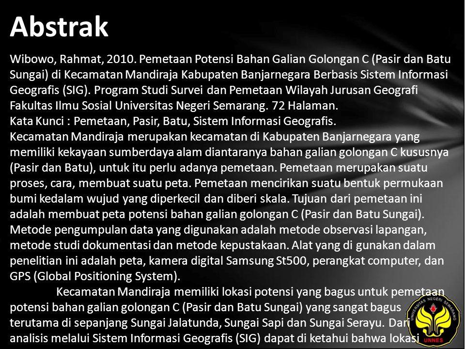 Abstrak Wibowo, Rahmat, 2010.