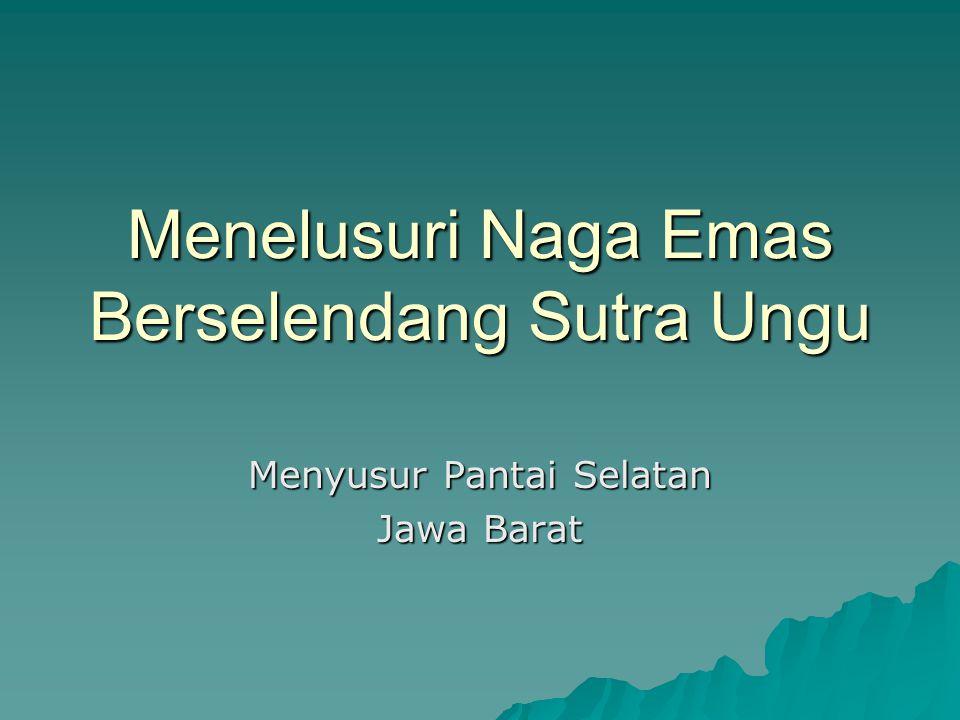 Menelusuri Naga Emas Berselendang Sutra Ungu Menyusur Pantai Selatan Jawa Barat
