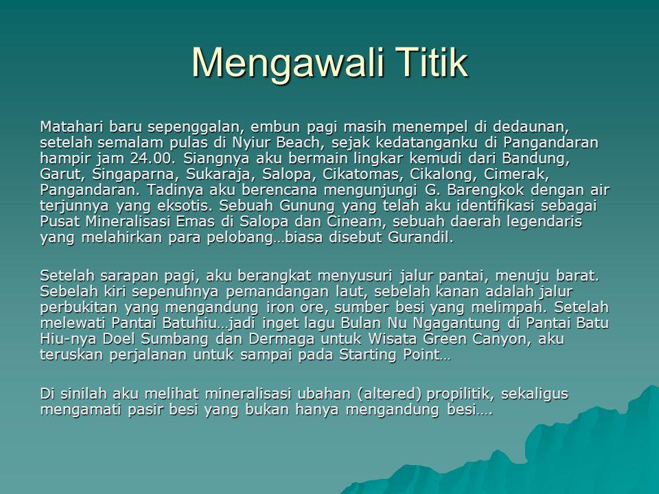 Kawanku juga menyodorkan batuan dari Kalimantan yang sudah dianalisis di P3G Jalan Diponegoro, Bandung.