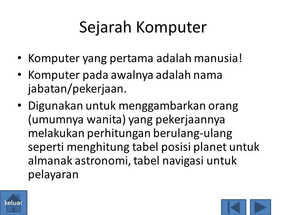 General Purpose Computer  Jenis komputer yang dibuat untuk keperluan pemecahan berbagai jenis masalah. Contoh : Personal Computer (PC)