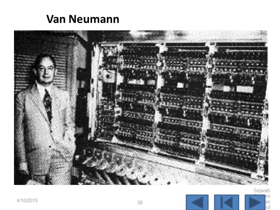 "Von Neumann John von Neumann, adalah jenius matematika dari Princeton, mengembangkan teori tentang penyimpan program dalam makalah yang berjudul ""A Pr"