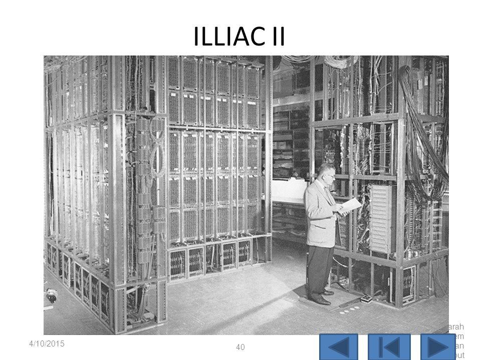 ILLIAC Selanjutnya bersama dengan Mauchly dan Eckert mengembangkan komputer EDVAC yang dilanjutkan dengan ILLIAC. ILLIAC dibangun pada universitas Ill
