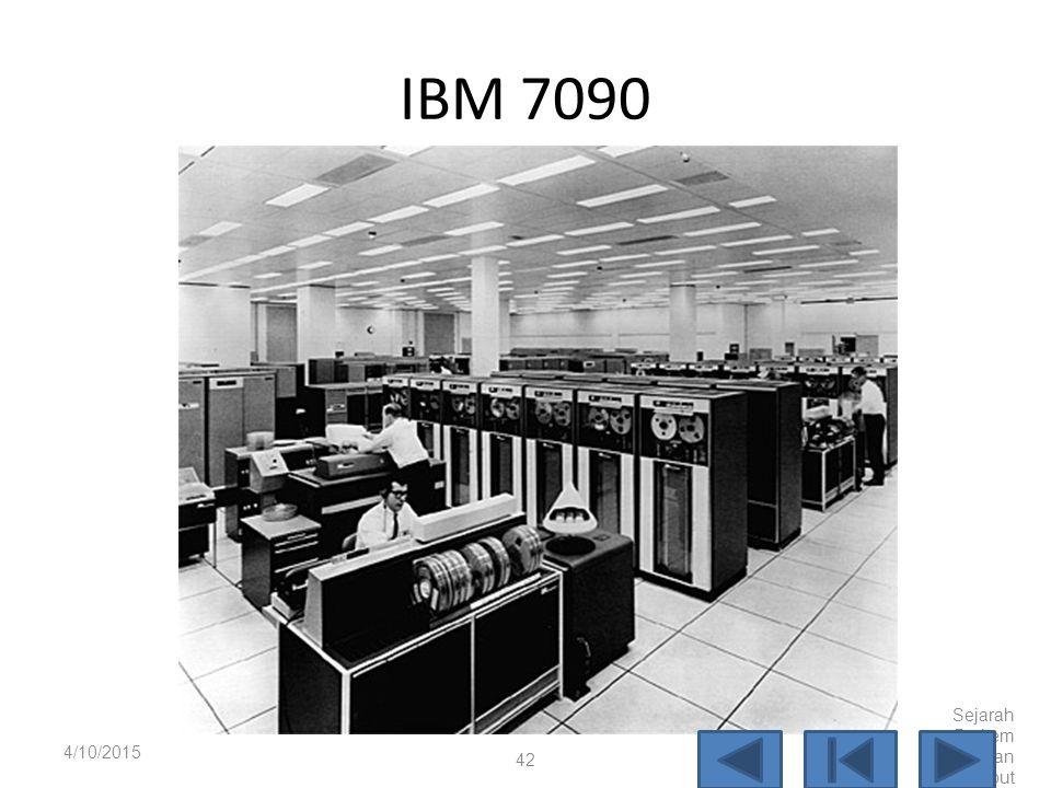 Mainframe  Tahun 1970 mulai muncul era komputer mainframe, seperti IBM 7090, IBM 360, dan IBM 370.  Terdapat dua cara untuk berinterasi dengan mainf