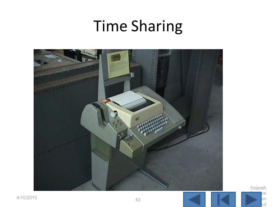 IBM 7090 4/10/2015 Sejarah Perkem bangan Komput er 42