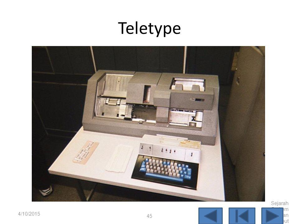 Paper Tape 4/10/2015 Sejarah Perkem bangan Komput er 44