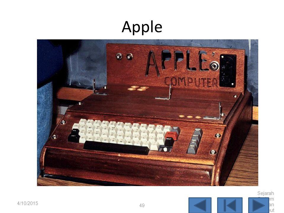 Altair 8800 4/10/2015 Sejarah Perkem bangan Komput er 48