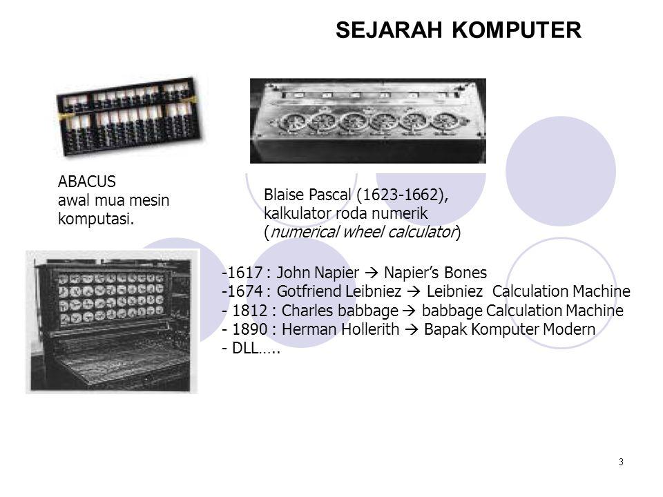 3 SEJARAH KOMPUTER ABACUS awal mua mesin komputasi.