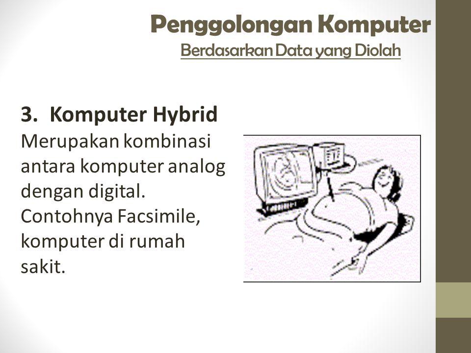 Penggolongan Komputer Berdasarkan Data yang Diolah 3.