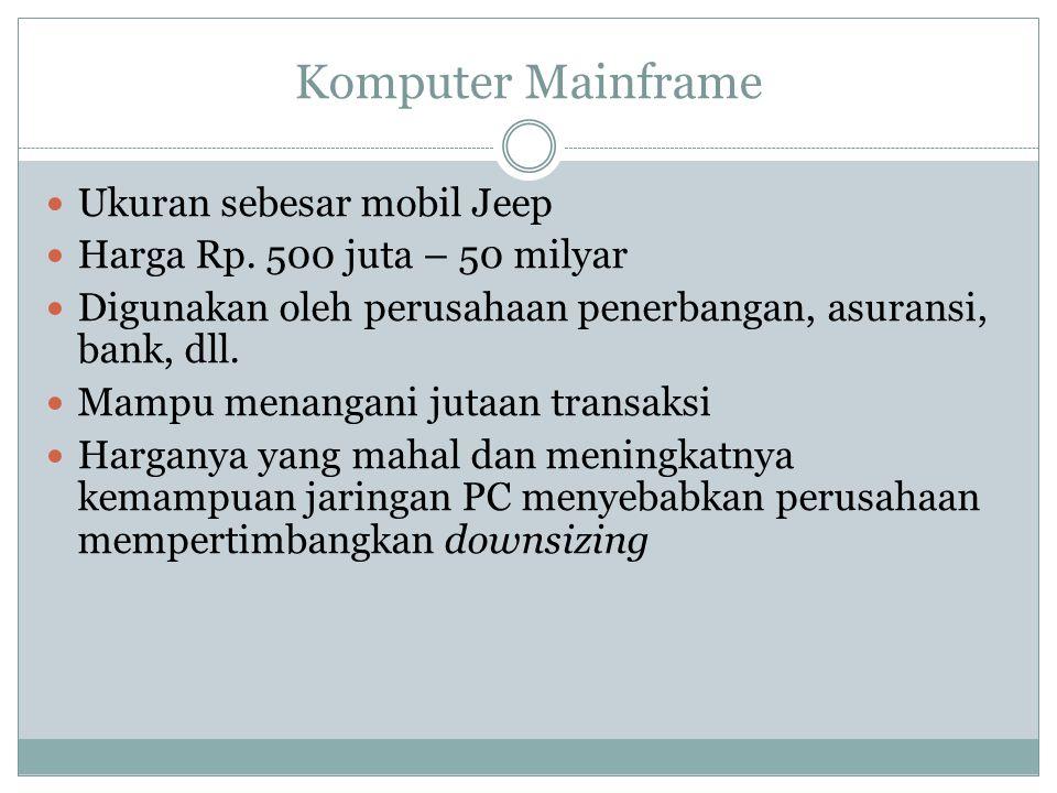 Komputer Mainframe Ukuran sebesar mobil Jeep Harga Rp.