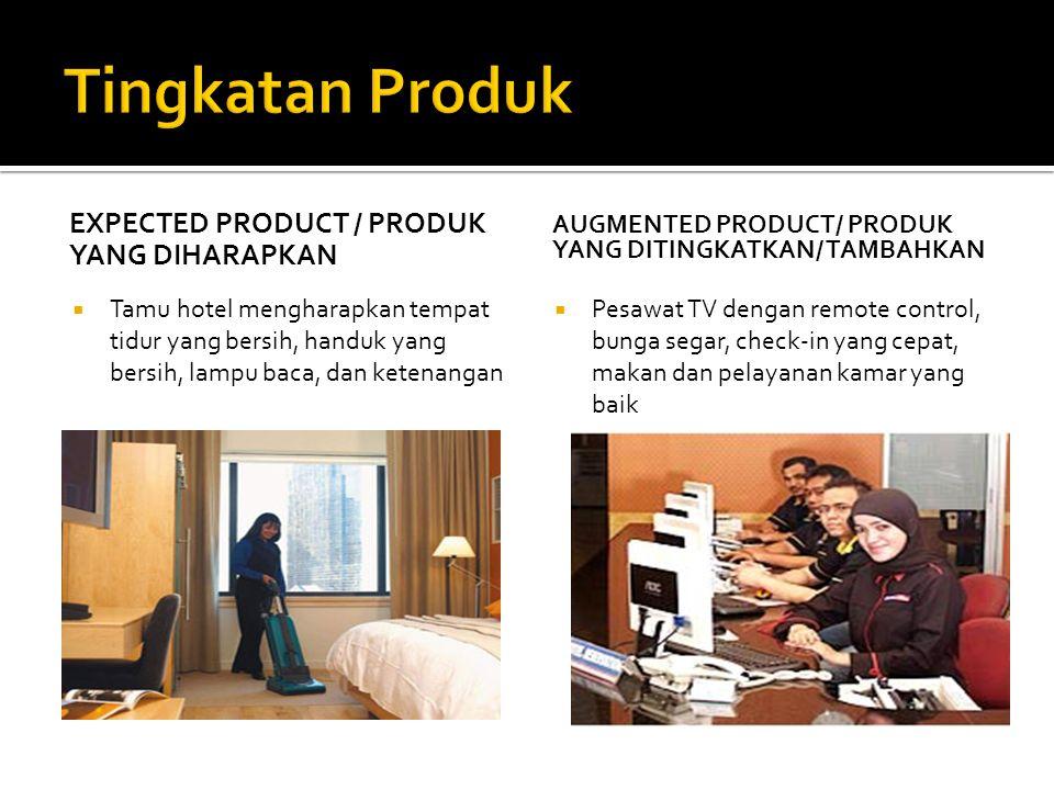 EXPECTED PRODUCT / PRODUK YANG DIHARAPKAN  Tamu hotel mengharapkan tempat tidur yang bersih, handuk yang bersih, lampu baca, dan ketenangan AUGMENTED
