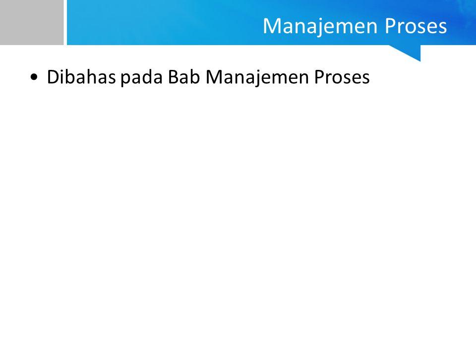 Dibahas pada Bab Manajemen Proses