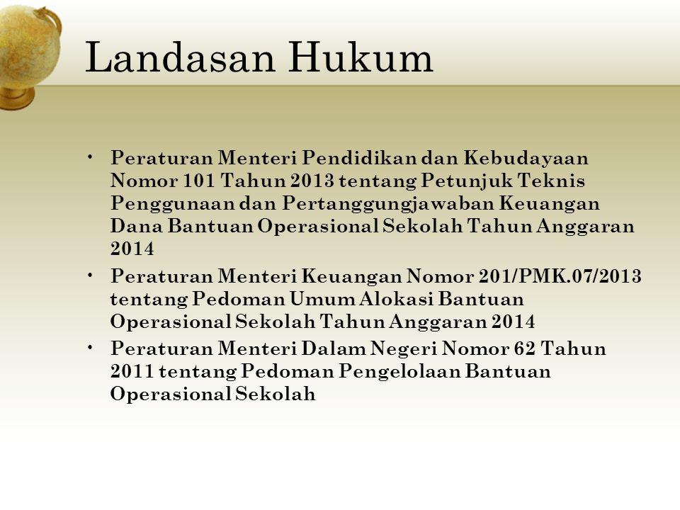 Peraturan Menteri Pendidikan dan Kebudayaan Nomor 101 Tahun 2013 tentang Petunjuk Teknis Penggunaan dan Pertanggungjawaban Keuangan Dana Bantuan Opera