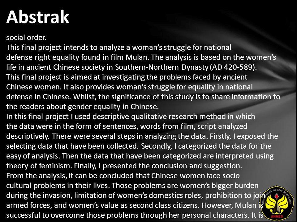 Kata Kunci gender equality, descriptive qualitative, feminism, ancient Chinese