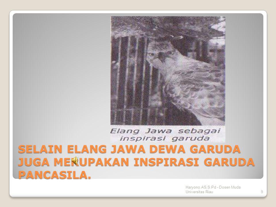 Penyempurnaan GARUDA PANCASILA Haryono.AS,S.Pd - Dosen Muda Universitas Riau 8 ATAS KESEPAKATAN SULTAN HAMID II, BUNG KARNO DAN M.HATTA. MERUBAH WARNA