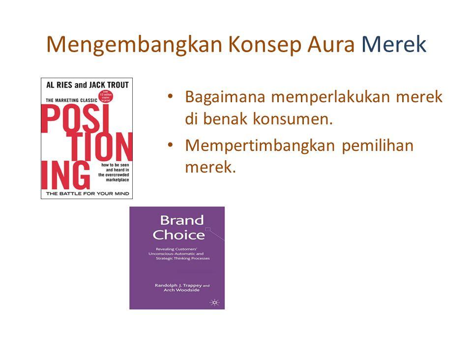 Mengembangkan Konsep Aura Merek Bagaimana memperlakukan merek di benak konsumen.