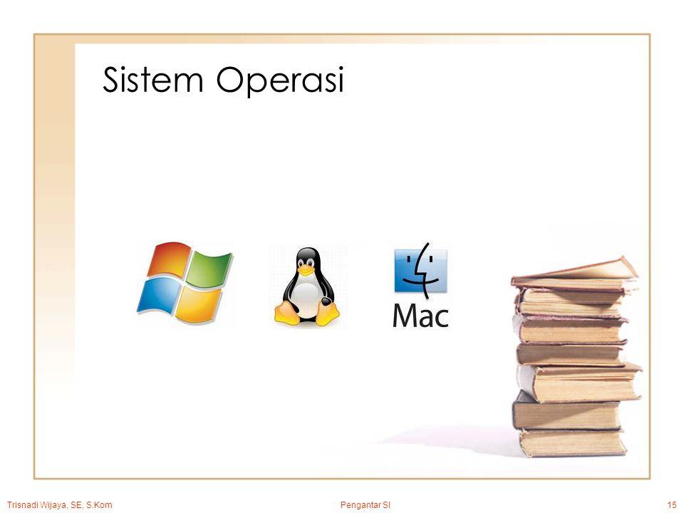 Trisnadi Wijaya, SE, S.Kom Pengantar SI15 Sistem Operasi