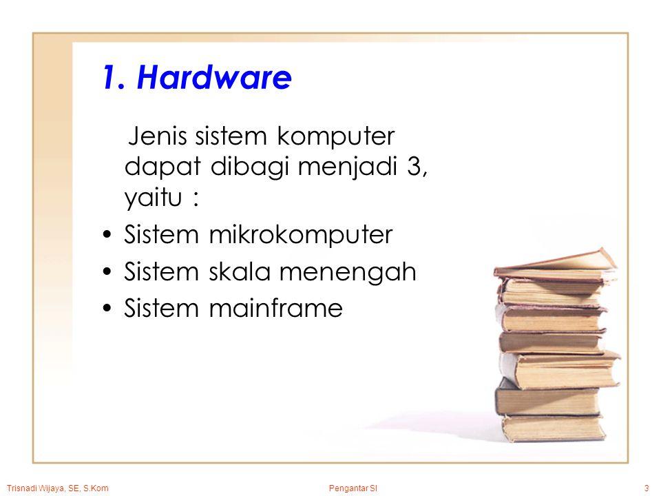 Trisnadi Wijaya, SE, S.Kom Pengantar SI3 1.