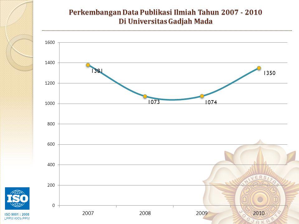 ISO 9001 : 2008 LPPM KKN-PPM Perkembangan Data Publikasi Ilmiah Tahun 2007 - 2010 Di Universitas Gadjah Mada