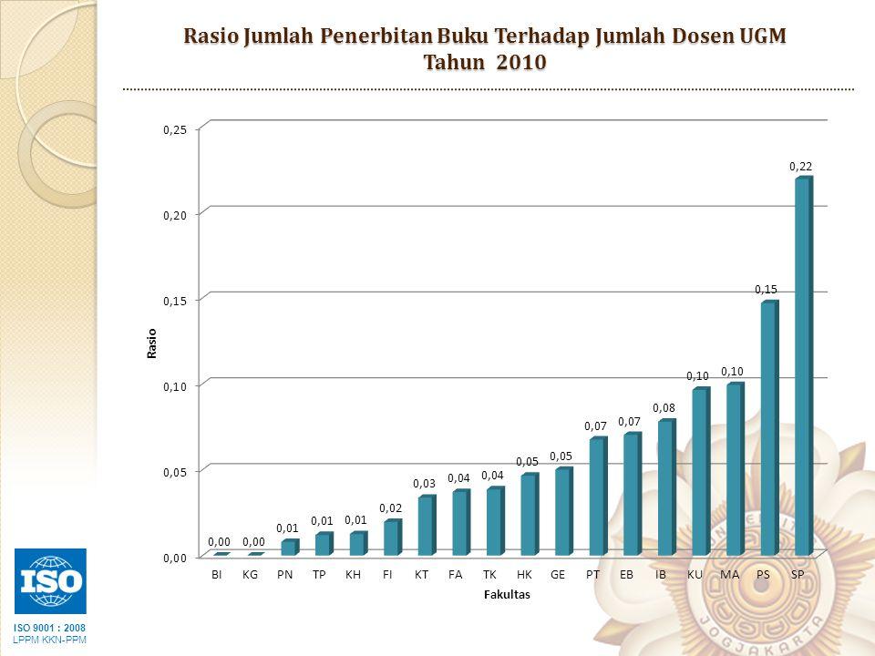 ISO 9001 : 2008 LPPM KKN-PPM Rasio Jumlah Penerbitan Buku Terhadap Jumlah Dosen UGM Tahun 2010