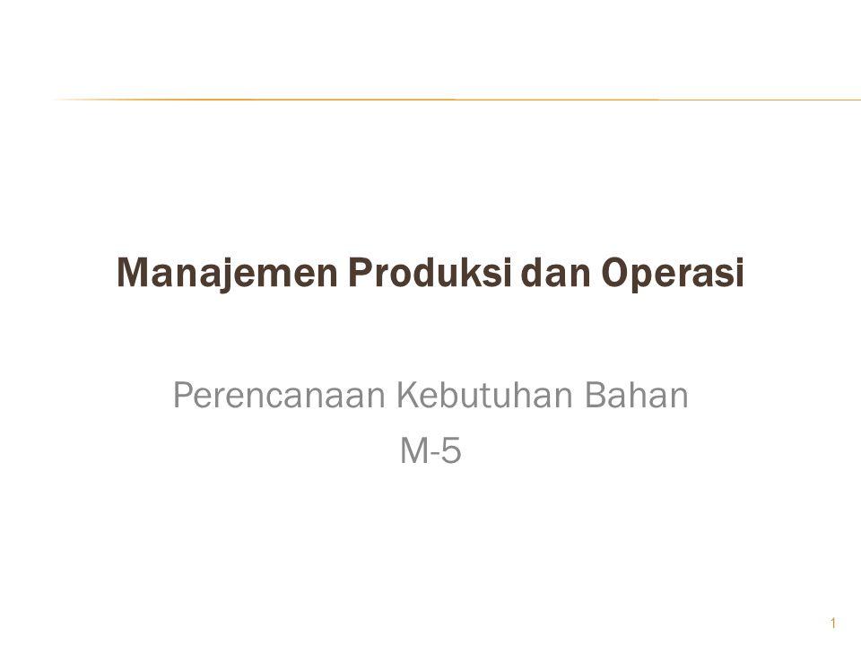 Manajemen Produksi dan Operasi Perencanaan Kebutuhan Bahan M-5 1