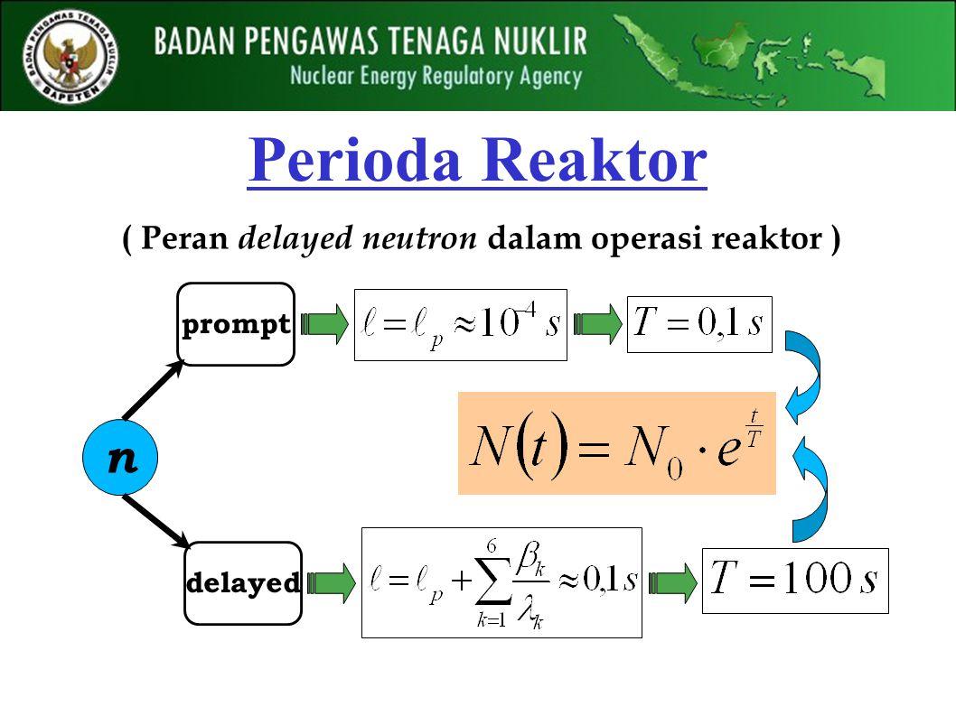 Perioda Reaktor ( Peran delayed neutron dalam operasi reaktor ) n delayed prompt