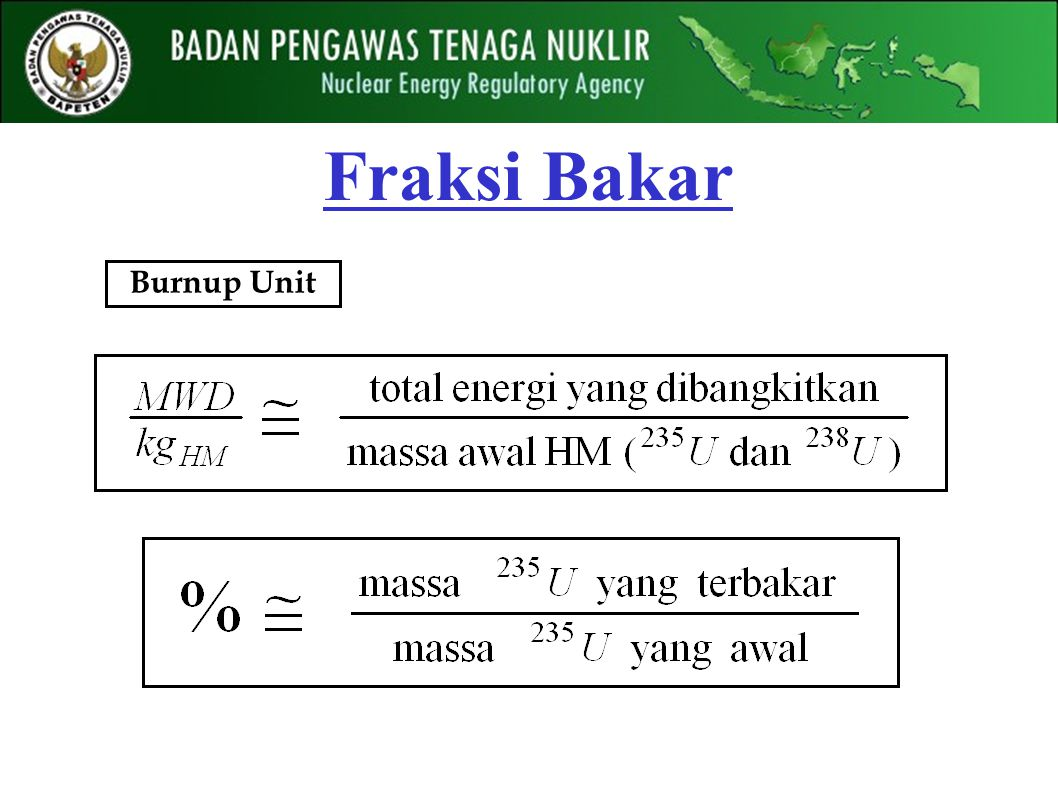 Fraksi Bakar Burnup Unit