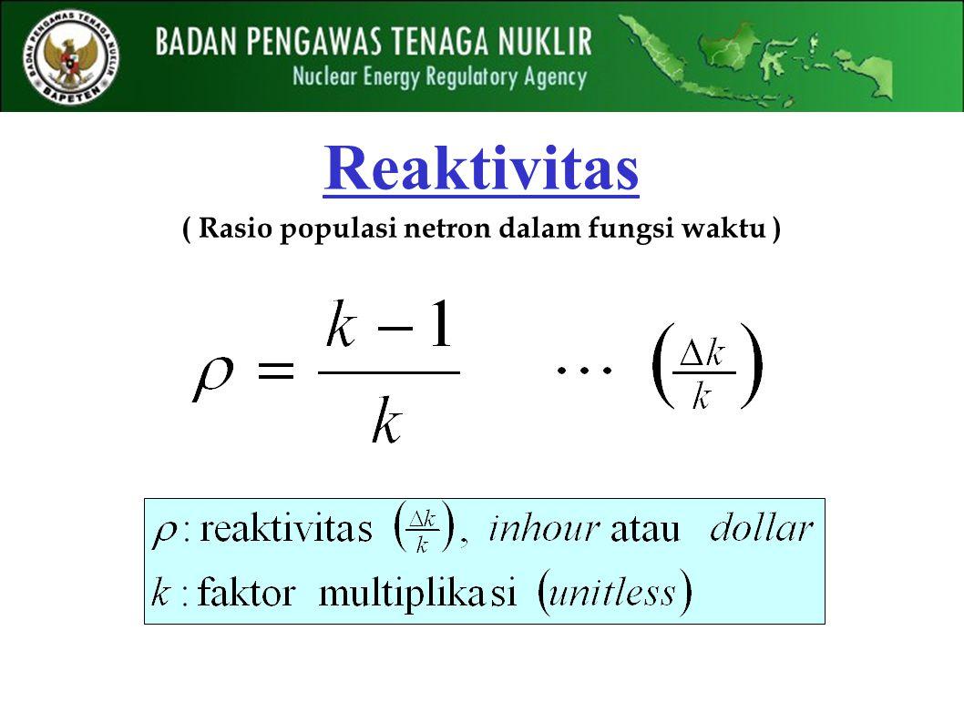 ( Rasio populasi netron dalam fungsi waktu ) Reaktivitas