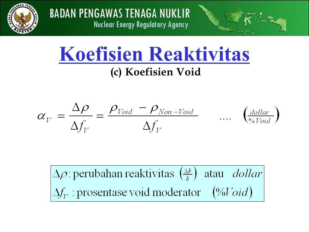 Koefisien Reaktivitas (c) Koefisien Void