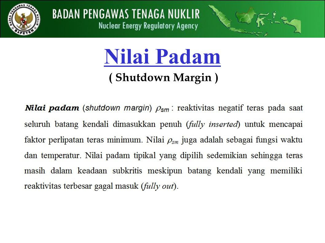 Nilai Padam ( Shutdown Margin )