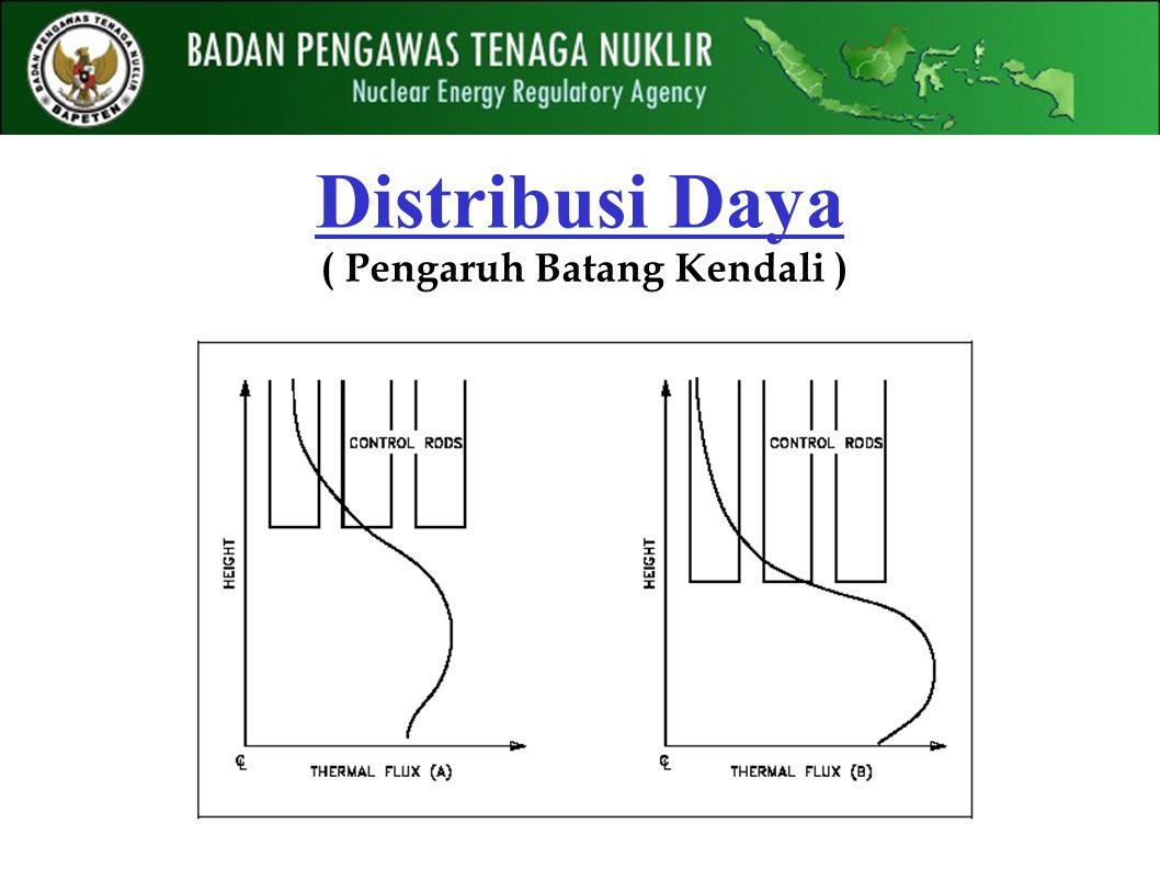 Distribusi Daya ( Pengaruh Batang Kendali )