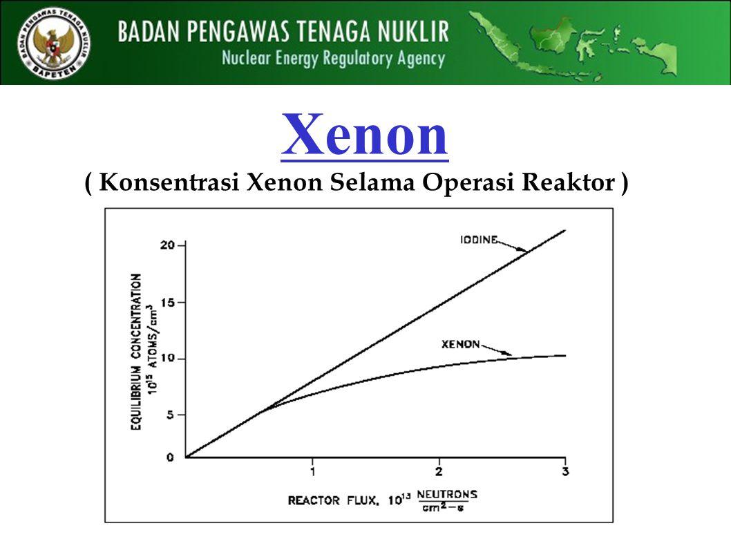 ( Konsentrasi Xenon Selama Operasi Reaktor )