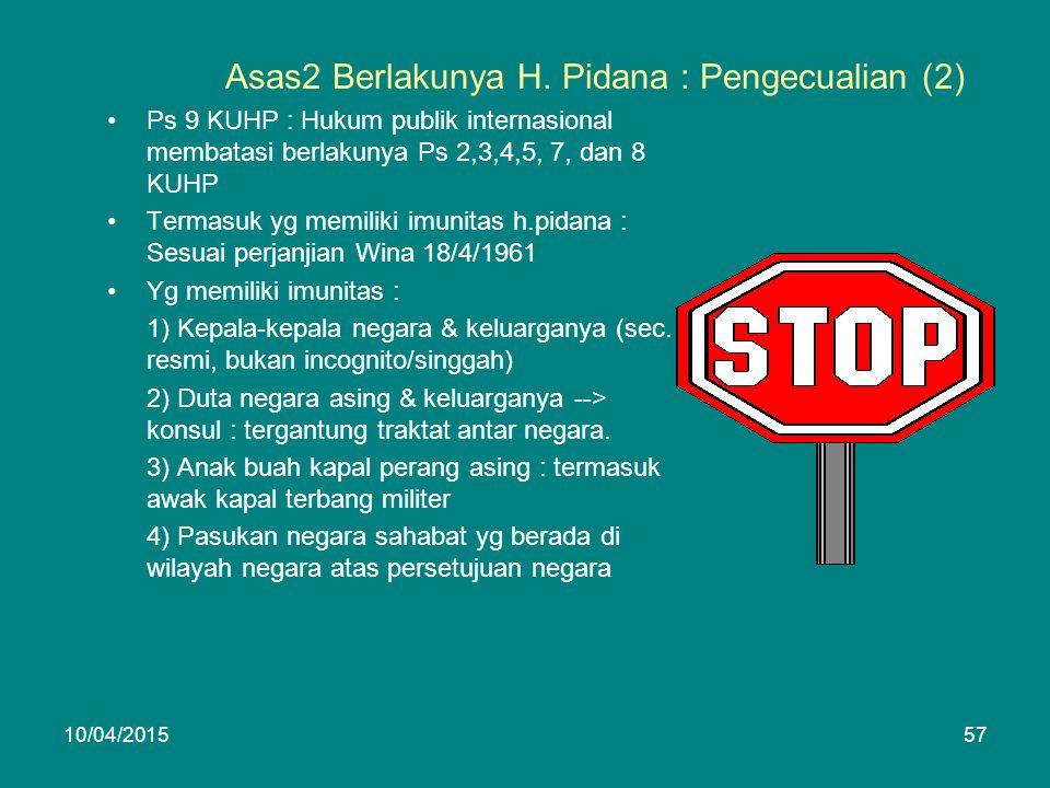 Asas2 Berlakunya H.