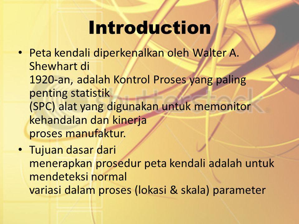 Introduction Peta kendali diperkenalkan oleh Walter A. Shewhart di 1920-an, adalah Kontrol Proses yang paling penting statistik (SPC) alat yang diguna