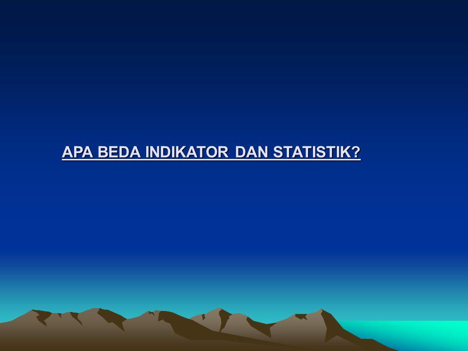 APA BEDA INDIKATOR DAN STATISTIK?