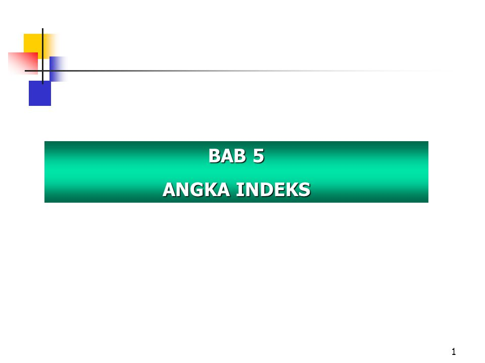 12 ANGKA INDEKS AGREGAT SEDERHANA 2.