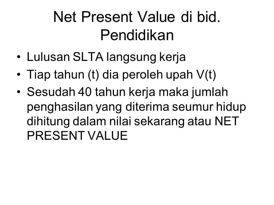 Net Present Value di bid.