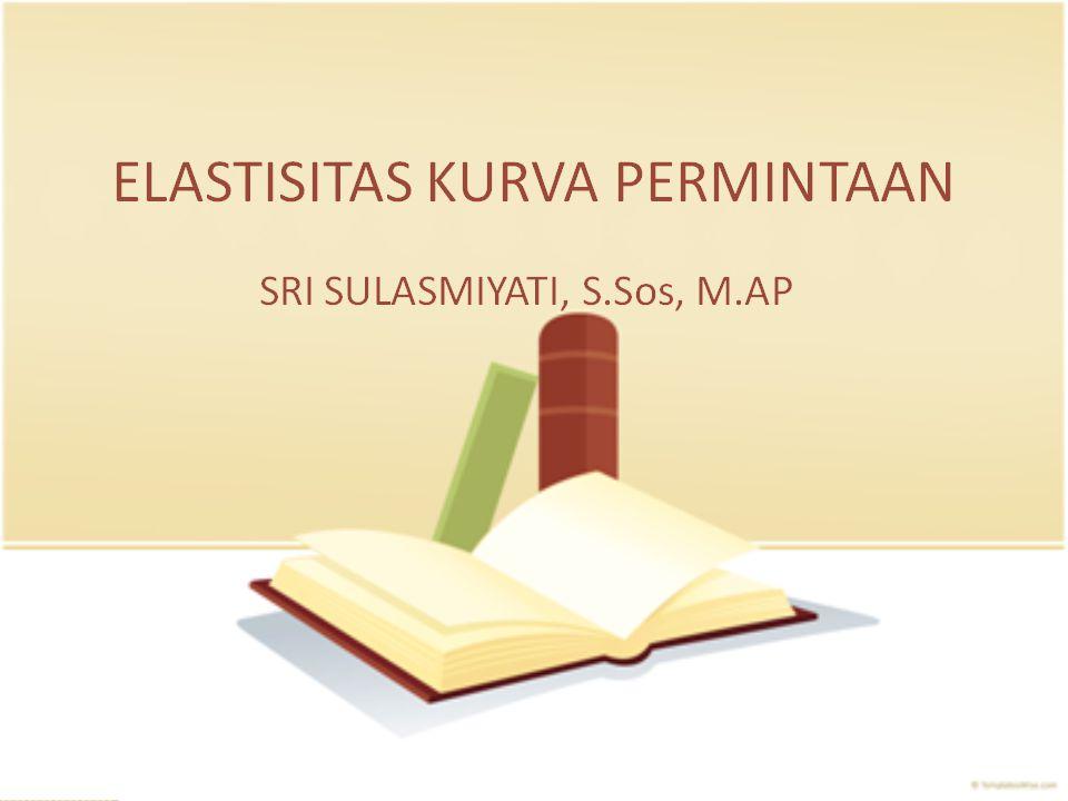 Elastisitas Kurva Permintaan Sri Sulasmiyati, S.Sos, M.AP www.sulasmiyati.lecture.ub.ac.id