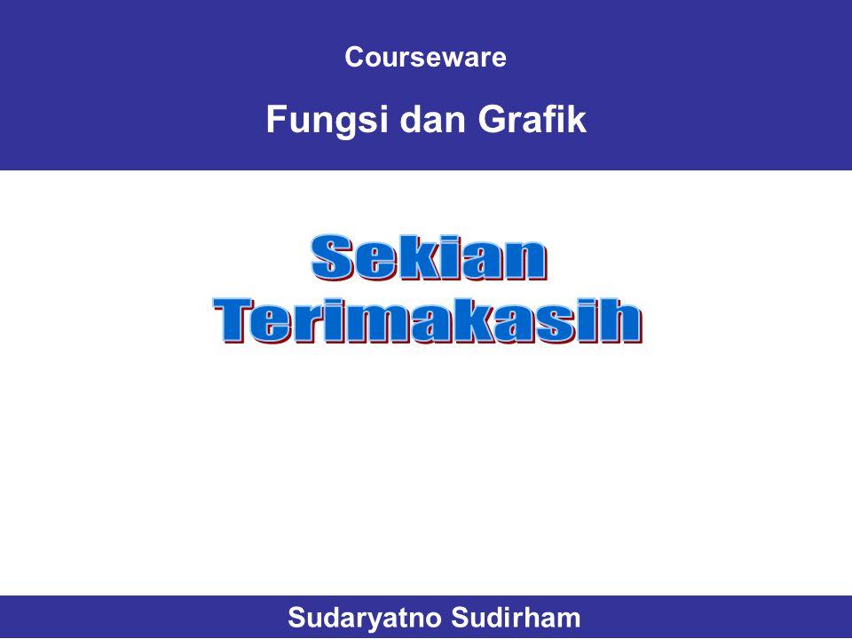 Courseware Fungsi dan Grafik Sudaryatno Sudirham