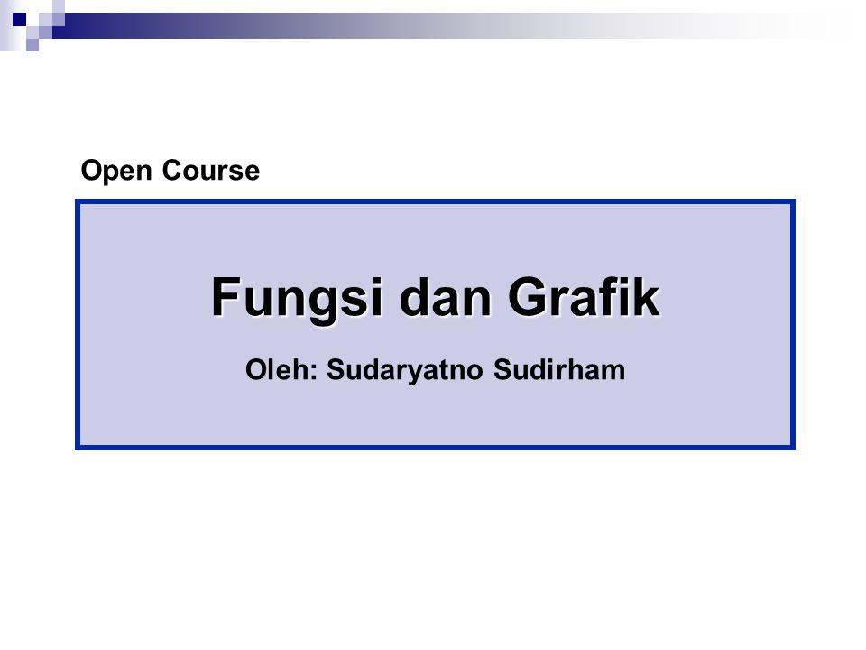 Fungsi dan Grafik Oleh: Sudaryatno Sudirham Open Course