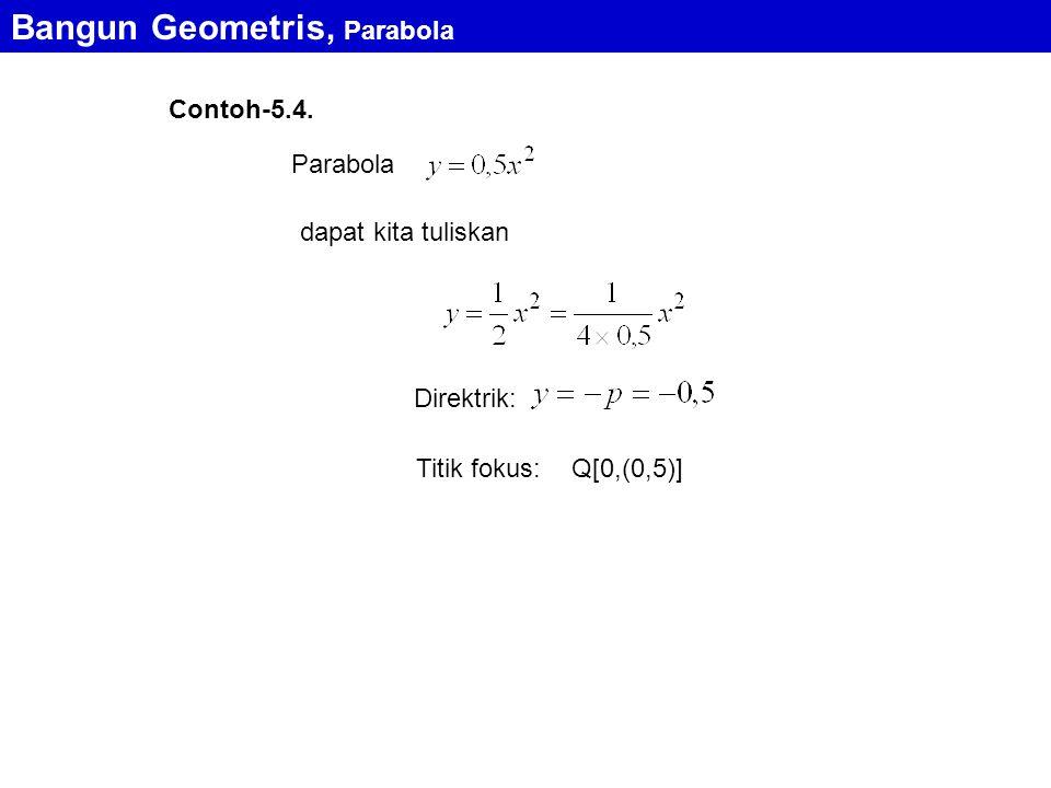 Bangun Geometris, Parabola Contoh-5.4.