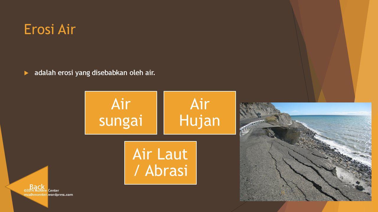 Erosi Air  adalah erosi yang disebabkan oleh air.