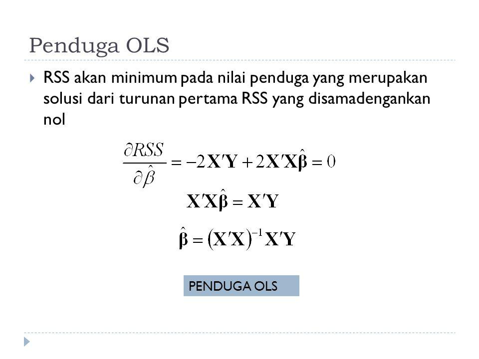 R 2 diperoleh dari model unrestricted.