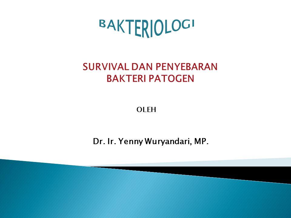 SURVIVAL DAN PENYEBARAN BAKTERI PATOGEN OLEH Dr. Ir. Yenny Wuryandari, MP.