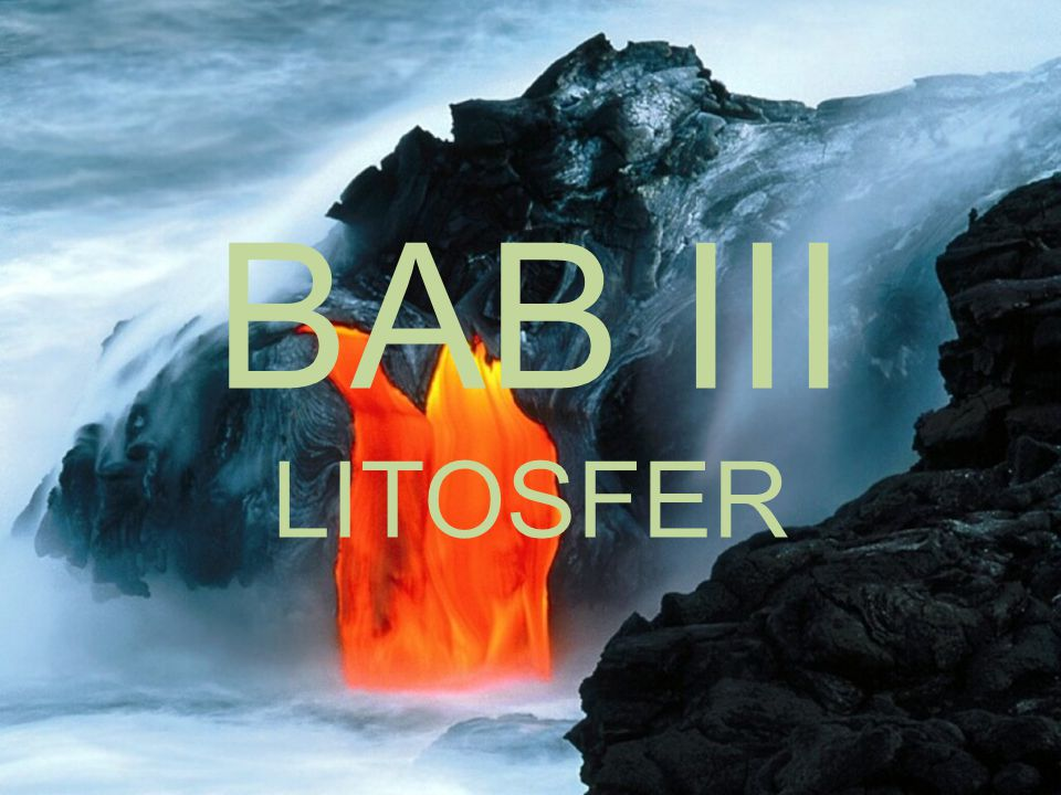 BAB III LITOSFER