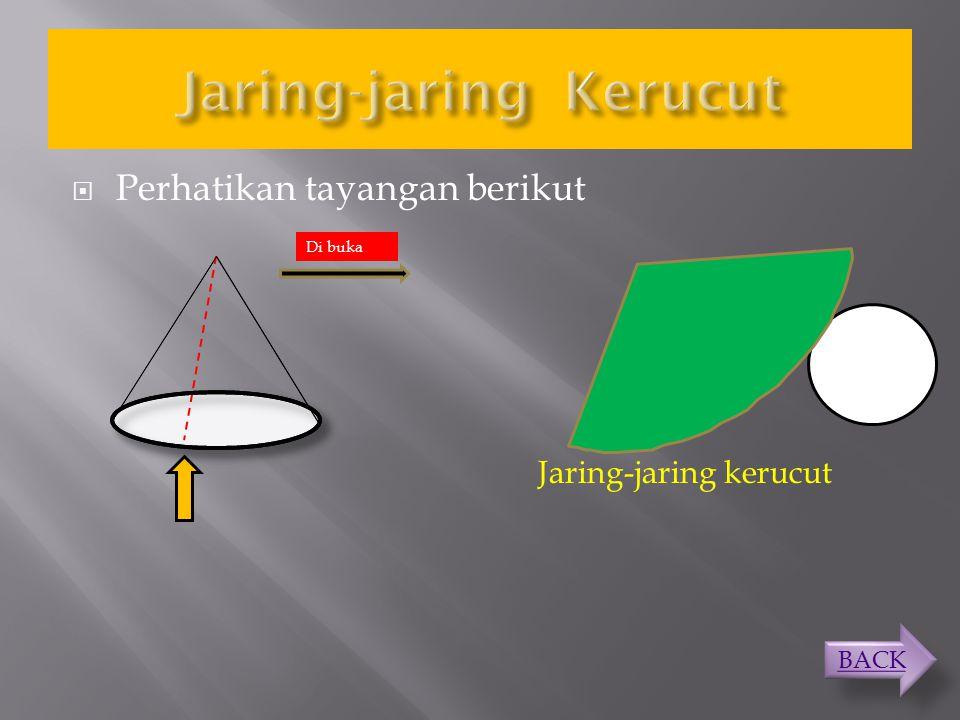 KERUCUT JARING- JARING LUASVOLUME